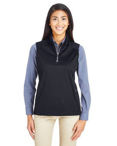 Ladies Techno Lite Three-Layer Knit Tech-Shell Quarter-Zip Vest (Barnes Brook Logo)
