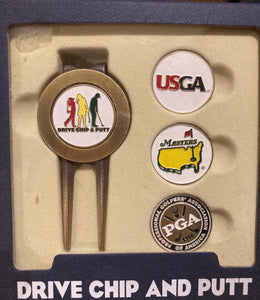 Divot tool with ball marker set