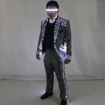 Load image into Gallery viewer, Led Tuxedo Stage Performance Ballroom Costumes Clothes Party Luminous Singer Dance Wear With Led Glasses