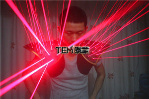 Red Laser Suit, LED Vest, Luminous Waistcoat  Laser Gloves  Glasses For Laser Show