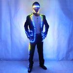 Cargar imagen en el visor de la galería, Digital Full Color LED Suit Remote Control LED Jacket for Bar Hosting, Wedding Men's dress Costume Tron suit