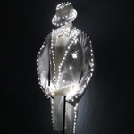 Cargar imagen en el visor de la galería, Fashion Swallowtail LED Tuxedo Luminous Costumes Glowing vestidos LED Clothing Show Men LED Clothes Dance Accessories