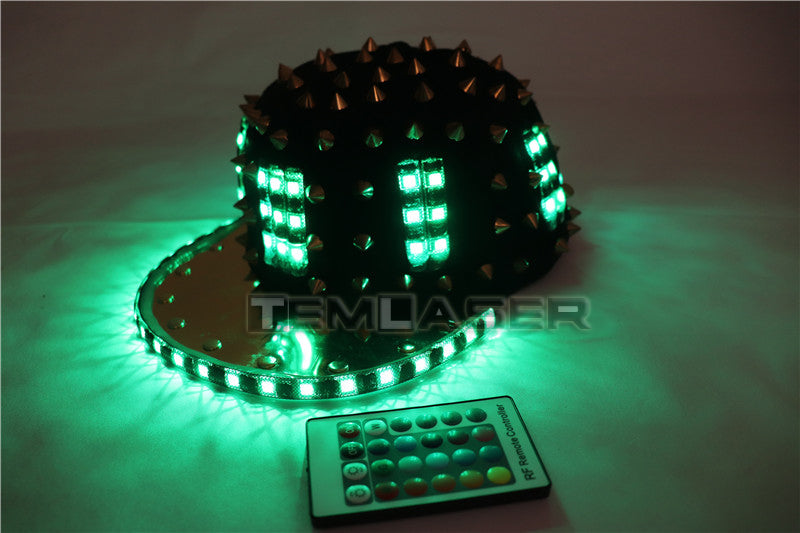 Adult Girl LED Party Flashing Jazz Hat Sequins Cap Sports Fitness Bike Birthday Gift Glow Wedding Party Supplies Gift