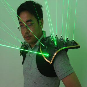 Green Laser Suit LED Vest Luminous Waistcoat 532nm Green Laser Gloves Glasses For Laser Show