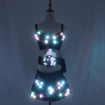 Load image into Gallery viewer, Full Color Led Luminous Light Party Skirt Sexy Girl Led Light Up Costumes