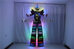 Load image into Gallery viewer, Full Color Pixel LED Robot Costume Clothes Stilts Walker Costume LED Suit Costume Helmet Laser Gloves