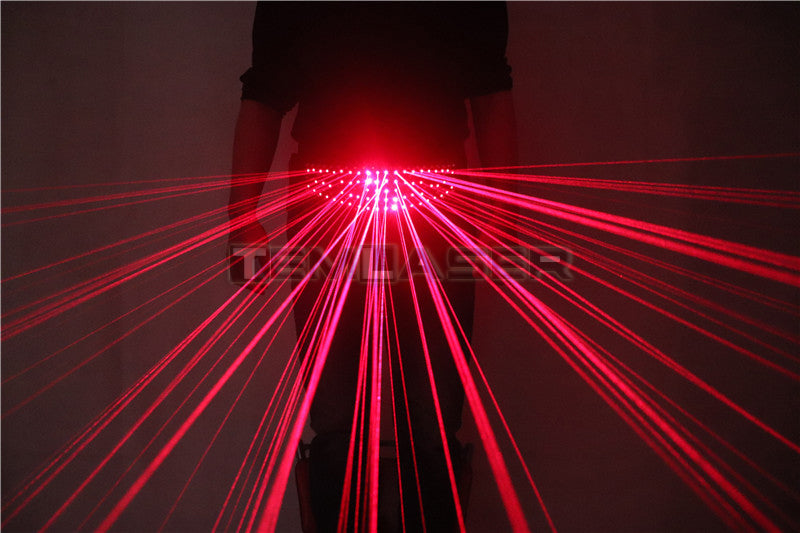 Red Laser Waistband Belt Led Girdle for Glowing Gloves Glasses Christmas Halloween Nightclub EDM Festival Performance