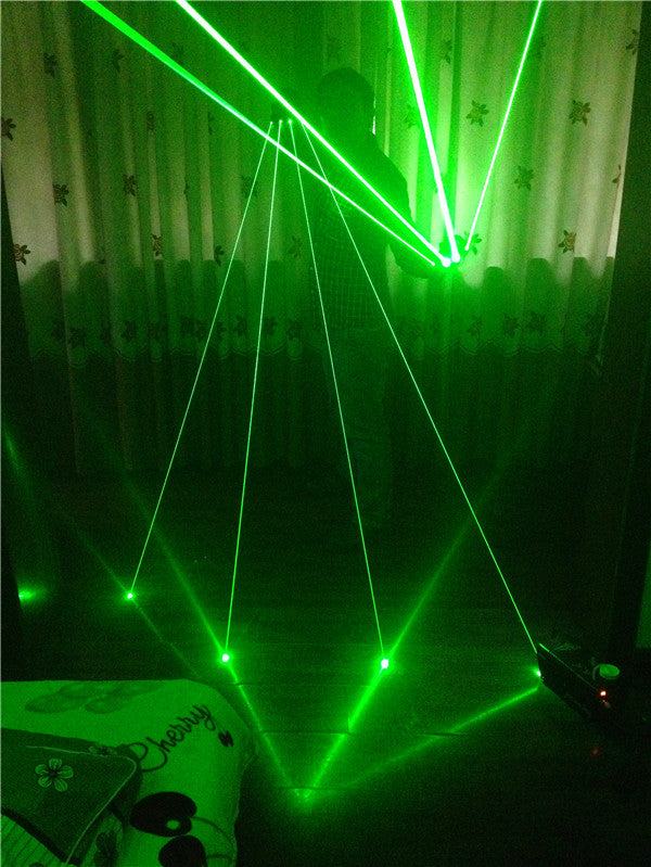 High Quality Green Laser Gloves Nightclub Bar Party Dance Singer Dance Props DJ Mechanical Gloves
