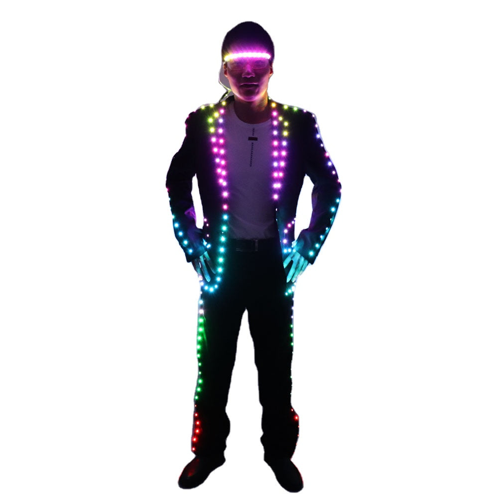 Digital Full Color LED Suit Remote Control LED Jacket for Bar Hosting, Wedding Men's dress Costume Tron suit