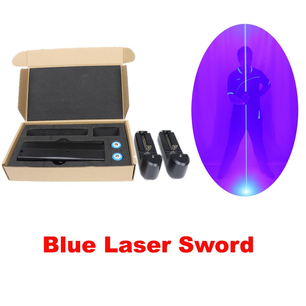 Mini Dual Direction Blue Laser Sword for Laser Man Show Double Headed Wide Beam Red and Green Pedal Laser Show Props