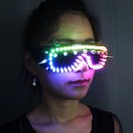 Load image into Gallery viewer, Full Color Led Luminous Glasses Can Change 7 Colors Flashing Halloween Party Light Up Eye wear