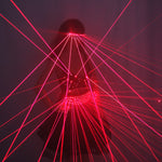 Load image into Gallery viewer, Red LED Clothes Laser Suits Laser Bra Sexy Girl Laser Glasses for Nightclub Performers