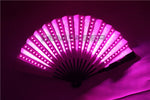 Load image into Gallery viewer, RGB LED Fan Stage Performance Dancing Lights Fans Rechargeable Remote Control Color Changing Light Stage Performance Props Gift