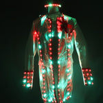 Load image into Gallery viewer, Full Color Smart LED Court Suit Europe Style Court Marshal Clothing Groom Wedding Mens Suits Light EDM Music Party Stage Singer