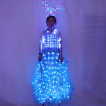 Cargar imagen en el visor de la galería, LED Luminous Wings Ballet Costume Fluorescent Butterfly Dance Cloak Dance Costume Belly Dance Cloak Prop