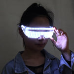 Load image into Gallery viewer, LED Luminous Glasses Halloween Party Light Up Eye wear for LED Growing Light Performance Stage Costume Clothes