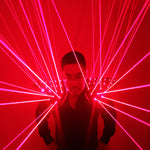Load image into Gallery viewer, Red Laser Suit, LED Vest, Luminous Waistcoat  Laser Gloves  Glasses For Laser Show