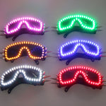 Load image into Gallery viewer, 6 Color Burst Flashing LED Glow Glasses LED Glasses Rivet Punk Glasses Laser Glasses For Chirstmas Party