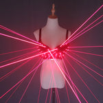 Load image into Gallery viewer, Fashion Red Laser Luminous Sexy Lady Bra Laser Show Stage Costumes For Singer Dancer Nightclub Performers