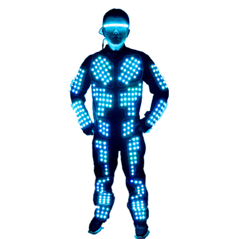 New Arrived LED Robot Suits Luminous Jacket Laser Suit Fashion Coat for EDM Music Festival Costumes