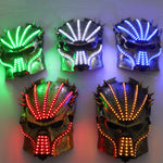 Load image into Gallery viewer, Led Luminous Halloween Ghosts Mask Illuminate Stage Performance Headwear Green Laser LED Glasses Party Masquerade Masks