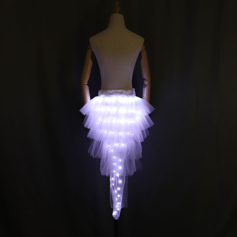 Fashion Dance LED Tutu Skirt Up Neon Fancy Rainbow Mini Tutu Fancy Costume Adult Light Skirt TFS Corset Tutu Skirtr