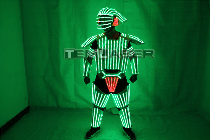 Night Club LED Robot Costumes Clothes LED Suit Lights Luminous Stage Dance Performance Show Dress