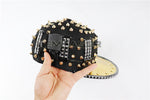 Load image into Gallery viewer, Unisex Punk Hedgehog Rock Rivet Cap Newest Unique Gold Silver Rivet LED Hat Fashion Snapback for Street Hip-hop Rivet