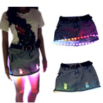 Cargar imagen en el visor de la galería, Fashion Mini LED Sexy Skirt Party Nightclub Mini Skirts Fashion Female Fitted Tight All-over Skirt