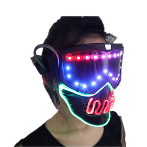 Full Color Smart Pixel Led Mask Halloween Party Masque Masquerade Masks Cold Light Helmet