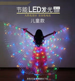 Load image into Gallery viewer, Kids LED Isis Wings Sticks Belly Dance Wing Stage Performance Girls Multi Colors Wings Led Butterfly Light Up 360 Degrees