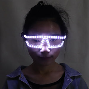 Fashion Christmas LED Glasses, Laser Stage Props Night Club Super Bright LED Glasses Event Party Supplies