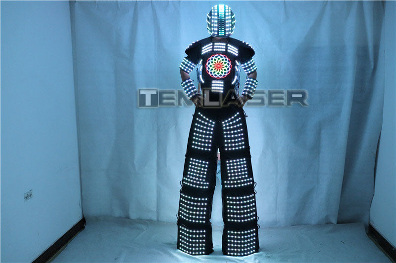 LED Light Robot Costume Clothing Traje De Robot LED Stilts Walker Suit Jacket Event Kryoman Costume