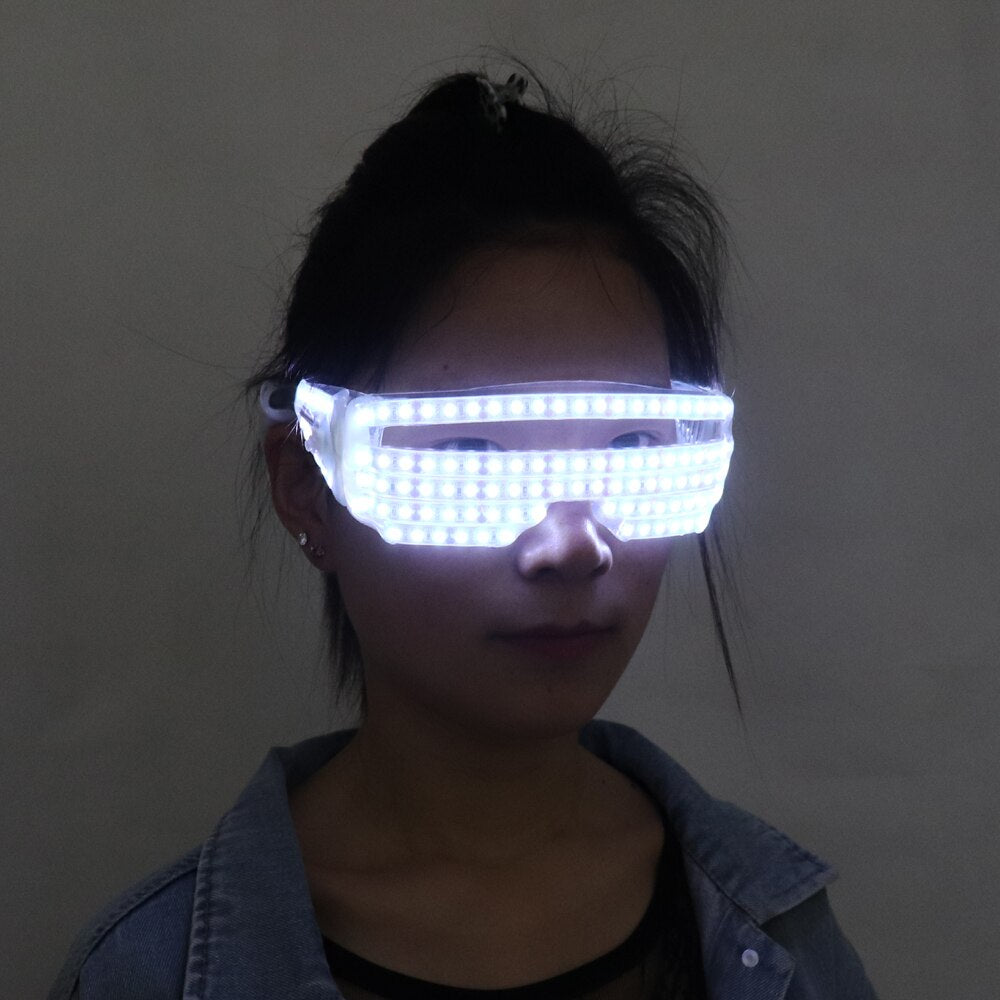 LED Luminous Glasses Halloween Party Light Up Eye wear for LED Growing Light Performance Stage Costume Clothes