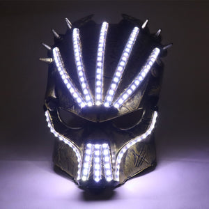 Led Luminous Halloween Ghosts Mask Illuminate Stage Performance Headwear Green Laser LED Glasses Party Masquerade Masks
