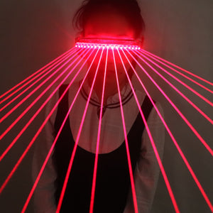 650nm Red Laser Glasses 18pcs Laser Influx of People Necessary Stage Flashing Gloves LED Canvas Vest Outdoor Performance Costume