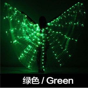 Belly Dance LED Isis Wings Colorful Belly Dancing Accessory Popular Stage Performance Props Wings Props With Stick