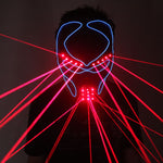 Load image into Gallery viewer, Red Laser Mask Luminous Light Up Laserman Face Mask Laser Show Halloween Masks
