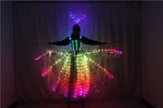 Load image into Gallery viewer, New Ful Color Pixel LED Skirt Dreamy Luminous Wedding Dress LED Color Wings Pettiskirt for Stage Performances