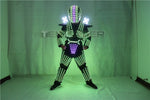 Load image into Gallery viewer, Traje De LED Robot Suit Costume Robot Armor Used with High Heel Predator Led Costume Laser Gloves