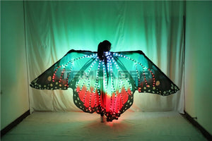 Belly Dance Wing Butterfly Halloween Full Color Pixel Smart LED Wings Girls Dance Cloak Accessories Props Stage