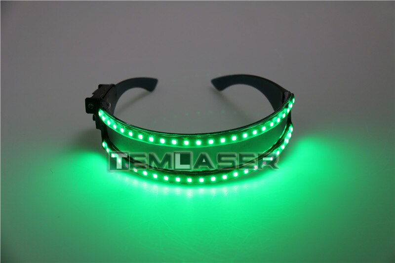LED Glasse Laser Gloves pour Nightclub Nerformers Party Dancing Glowing Spiderman Masque Lunettes