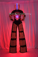 Load image into Gallery viewer, LED Robot Suit Clothes  Stilts Walker  Light Suits Kryoman Robot David Guetta with Helmet Laser Gloves