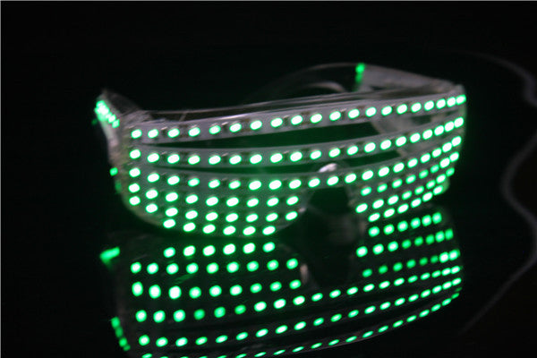 LED Flash Glasses 6 Lighting Colors Select Luminous Flashing Eyewear for Carnival Party Dance Costume Decoration