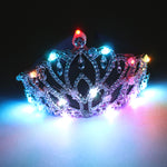 Load image into Gallery viewer, Blinking Hair Band LED Crown Headband Flashing Luminous Headwear Supplies Rhinestone Crown