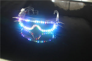 High Quality LED Laser Gloves  LED Light up LED Glasses Bar Show Glowing Costumes Prop Party DJ Dancing Lighted Suit