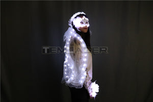 LED Glowing Wreaths Veil Music Festival Party Veil Princess Hair Ornaments