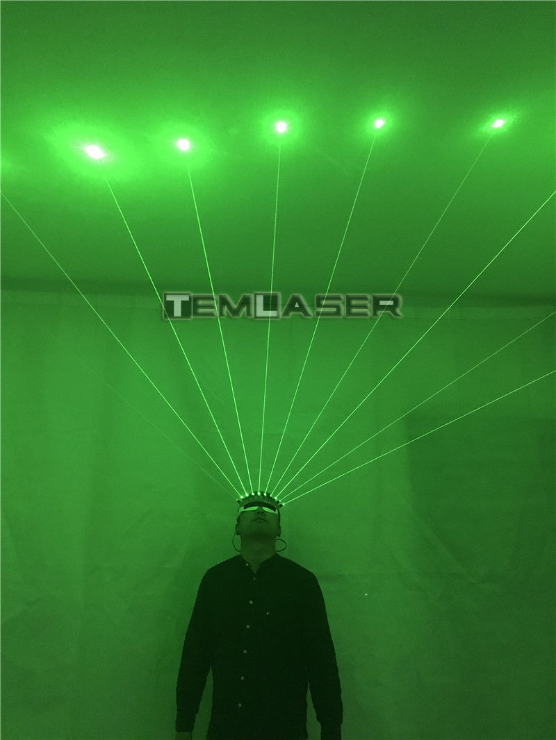 532nm Green Laser Glasses For Pub Club DJ Shows With 10Pcs Green Laser LED Stage Glasses