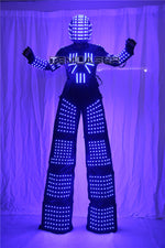 Charger l'image dans la galerie, High - speed Walker RGB LED Light dancer costume color LED Robot
