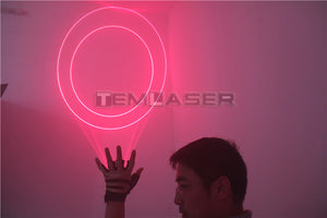 Red Handheld Laser Cannon Laser Rotating Gloves LED Palm Gyroscope Gloves CO2 Atmosphere Props